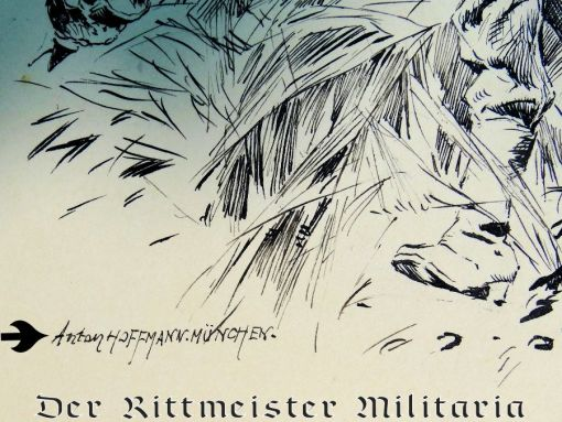 PRUSSIA - DRAWING - PEN AND INK - SOLDIERS' BATTLE OF KÖNIGGRÄTZ CHARGE DURING 1866 AUSTRO-PRUSSIAN WAR - Imperial German Military Antiques Sale