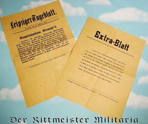 GERMANY - NEWSPAPER - TWO ACCOUNTS OF BOER WAR - Imperial German Military Antiques Sale