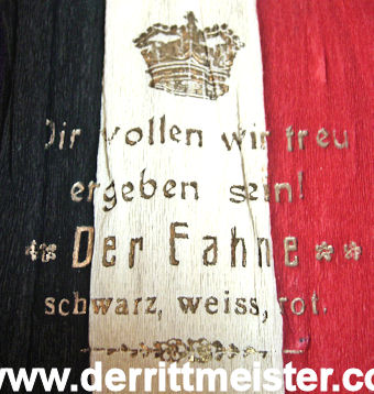 PATRIOTIC BAG - SALUTES FLAG - Imperial German Military Antiques Sale