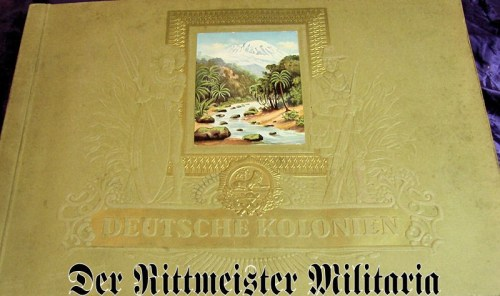 GERMANY COLONIAL - CIGARETTE CARD ALBUM - DEUTSCHE KOLONIEN - Imperial German Military Antiques Sale