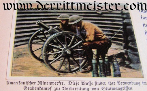 GERMANY - CIGARETTE CARD ALBUM - DAS WAFFENSTARRENDE AUSLAND - Imperial German Military Antiques Sale