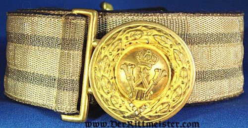 PRUSSIA - DRESS BROCADE BELT AND BUCKLE - OFFICER - Imperial German Military Antiques Sale