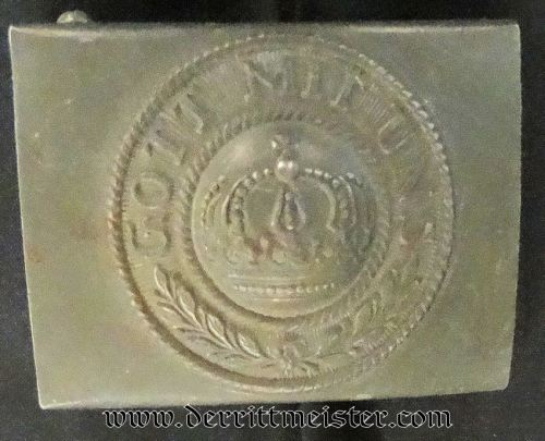 PRUSSIA - BELT BUCKLE - ENLISTED MAN - 1915 - Imperial German Military Antiques Sale