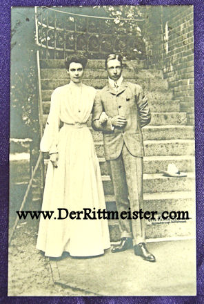 POSTCARD - CROWN PRINCE AND CROWN PRINCESS - GERMANY - Imperial German Military Antiques Sale