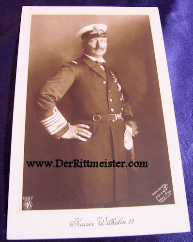 POSTCARD - KAISER WILHELM II - BRITISH ROYAL NAVY UNIFORM - Imperial German Military Antiques Sale