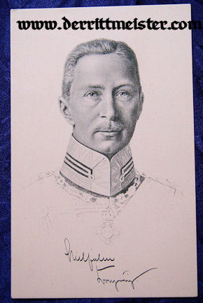 POSTCARD - CROWN PRINCE WILHELM - Imperial German Military Antiques Sale