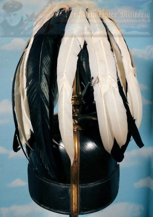 PRUSSIA - PICKELHAUBE - OFFICER - TRICHTER AND PARADE FEATHERS - Imperial German Military Antiques Sale