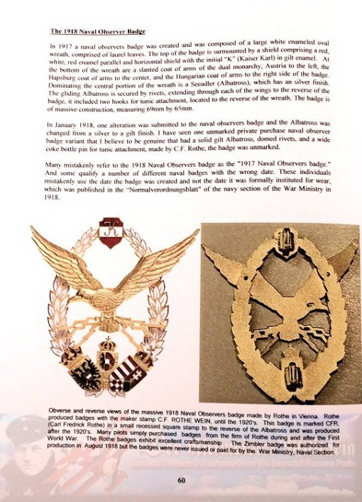 BOOK - REFERENCE - WINGS OF GRACE AND VALOR: AVIATION BADGES OF THE AUSTRO-HUNGARIAN EMPIRE 1910-1918 BY MICHAEL M. EDELSTEIN - Imperial German Military Antiques Sale