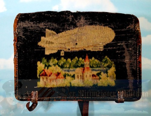 GERMANY - BOOK BAG OR BRIEF CASE - ZEPPELIN - EMBROIDERED - Imperial German Military Antiques Sale