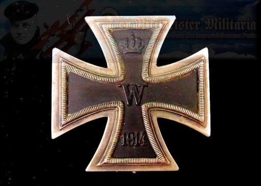 IRON CROSS - 1914 - 1st CLASS - DOUBLE-PINBACK - WAGNER & SÖHNE - Imperial German Military Antiques Sale