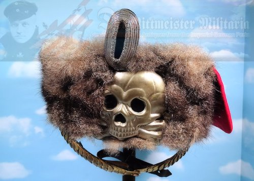 PRUSSIA - BUSBY - OFFICER - 1. LEIB-HUSAREN-REGIMENT NR 1 - Imperial German Military Antiques Sale