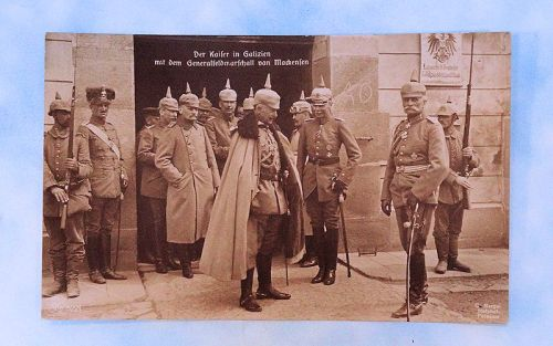 POSTCARD - KAISER WILHELM AND GENERALFELDMARSCHALL AUGUST VON MACKENSEN. - Imperial German Military Antiques Sale