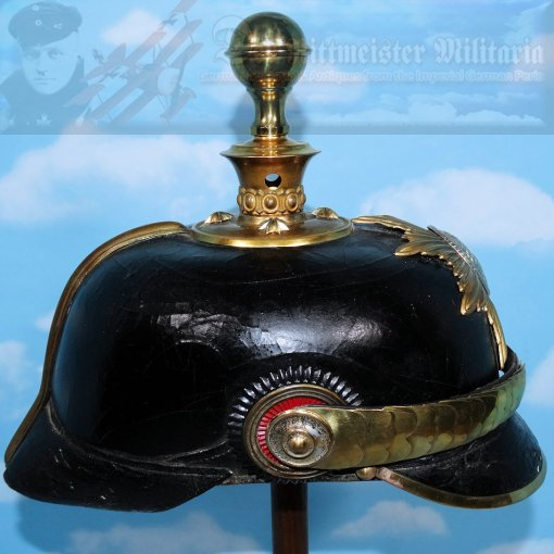 MECKLENBURG-STRELITZ - KUGELHELM - OFFICER - Imperial German Military Antiques Sale