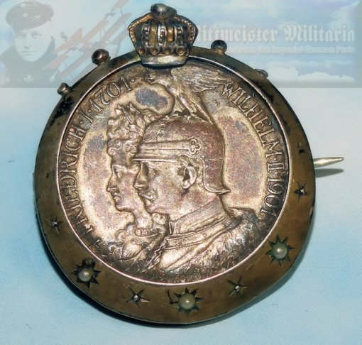 GERMANY - PATRIOTIC PIN - KAISER WILHELM II AND THE KAISERIN - Imperial German Military Antiques Sale