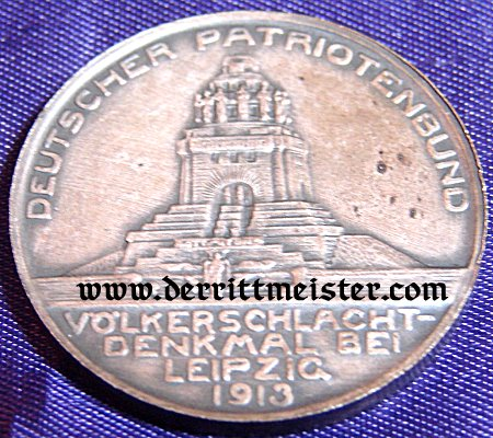 IMPERIAL GERMANY - TABLE MEDAL - 100-YEAR-COMMEMORATIVE - VÖLKERSCHLACHT DENKMAL LEIPZIG - ORIGINAL PRESENTATION CASE - Imperial German Military Antiques Sale