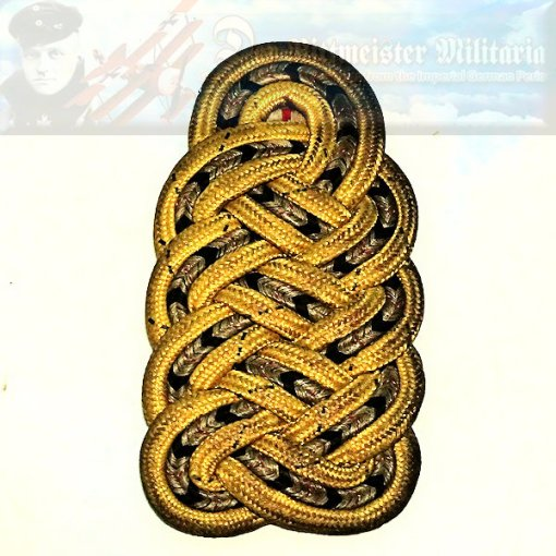 PRUSSIA - SHOULDER BOARD - GENERALMAJOR a.D. - SCHUTZTRUPPEN - M 1915 - Imperial German Military Antiques Sale