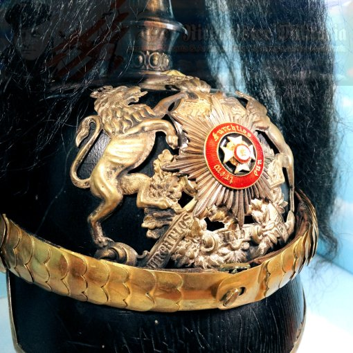WÜRTTEMBERG - PICKELHAUBE - OFFICER - WITH PARADE BUSH AND SPIKE - DRAGONER-REGIMENT NR 26 - Imperial German Military Antiques Sale
