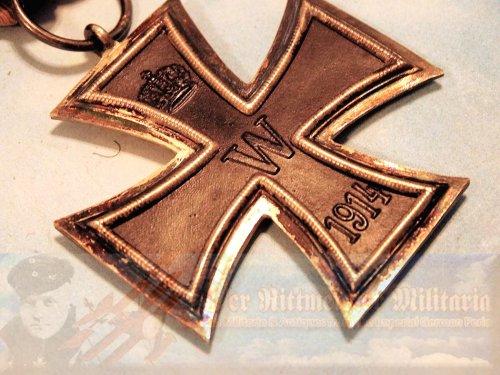 """IRON CROSS - 1914 - 2nd CLASS - """"KO"""" HALLMARK"""