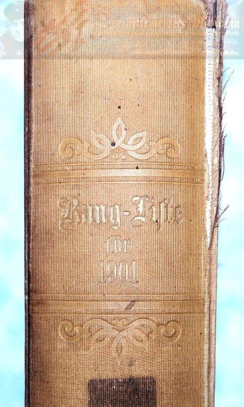 PRUSSIA - RANGLISTE - 1901