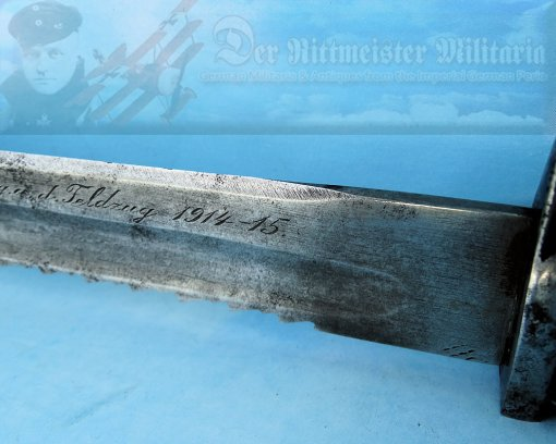 GERMANY - BAYONET - PRIVATE-PURCHASE - SAWTOOTH -LUFTSCHIFFER BATAILLON OFFICER