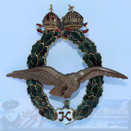 AUSTRIA - PILOT BADGE - 2nd MODEL (1917) - KAISER KARL