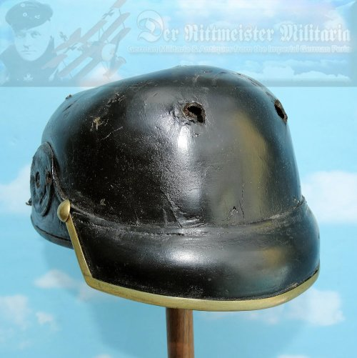 BAVARIA - PICKELHAUBE - OFFICER - LEATHER BODY