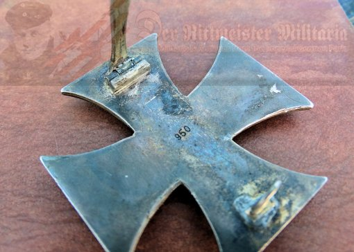 PRUSSIA - IRON CROSS - 1914 - 1ST CLASS - VAULTED - .950 HALLMARKED - Imperial German Military Antiques Sale