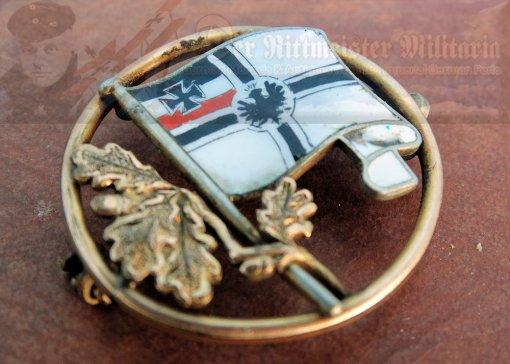GERMANY - PIN - PATRIOTIC - MULTI COLORED ENAMEL - KRIEGSFLAGGE - Imperial German Military Antiques Sale