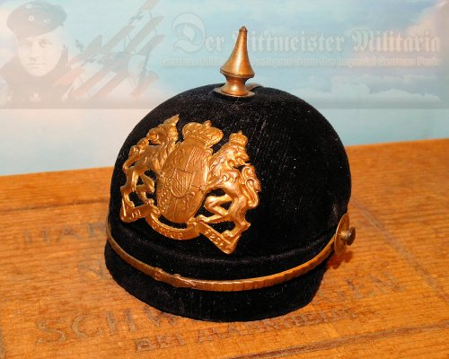 BAVARIA - JEWELRY OR KEEPSAKE BOX - MINIATURE PICKELHAUBE