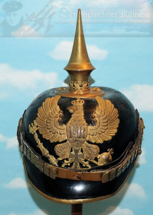 PRUSSIA - PICKELHAUBE / SPIKED HELMET - RESERVE OFFICER - LINE INFANTRY REGIMENT