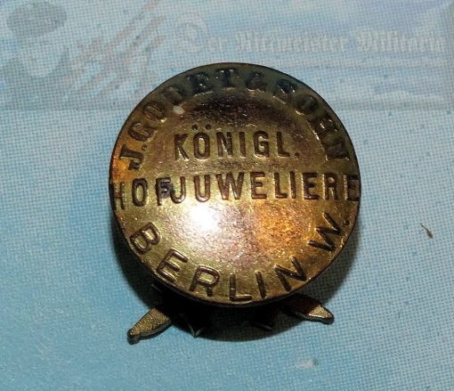 GERMANY - BOUTONNIERE - KNIGHTS CROSS WITH SWORDS - J. GODET & SÖHN - BERLIN.