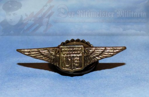 U.S. - BOUTONNIERE - U.S. ARMY PILOT BADGE  - Imperial German Military Antiques Sale
