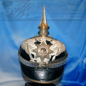 PRUSSIA - PICKELHAUBE / SPIKED HELMET - OFFICER - 1. GARDE-REGIMENT ZU FUß - WITH SEMPER TALIS BANDEAU