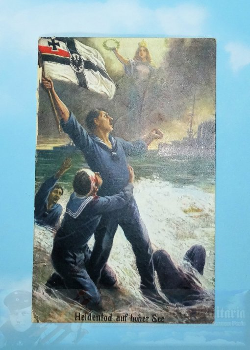 GERMANY - POSTCARD - IMPERIAL GERMAN NAVY - HEROES OF THE HIGH SEAS