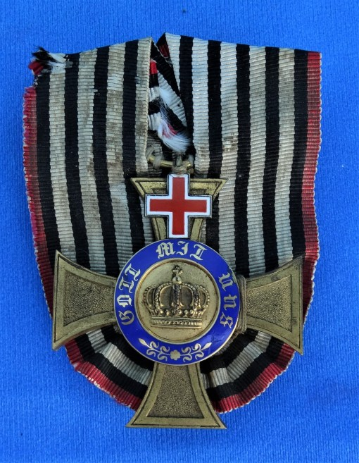 PRUSSIA - CROWN ORDER - 4TH CLASS - GENEVA CROSS - AWARDED TO A MEDICAL PROFESSIONAL