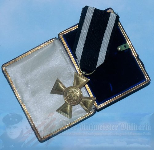 "PRUSSIA - MILITÄR-EHRENZEICHEN - 1ST CLASS - THE ENLISTED MAN/NCO ""BLUE MAX"" IN THE ORIGINAL PRESENTATION CASE PRUSSIA"
