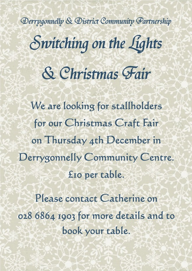 Flyer to stallholders