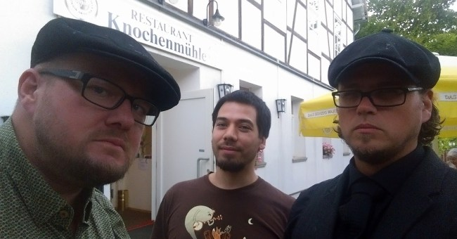 Der Koboldkönig, Gevatter Goblin (grinsend) und der Brückenbaron