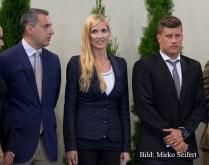 6.7.2016, Hódmezővásárhely: der Minister (li) und Daniel G. rechts.