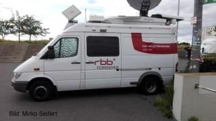DM 2017: rbb-Übertragungswagen am 17.6.2017.