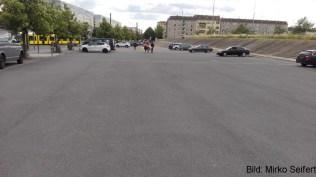 DM 2017: der Parkplatz am 17.6. am abend.