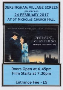 Poster for February Dersingham Village Cinema