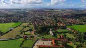 aerial photograph of dersingham village