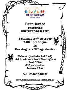 poster for ceilidh and barn dance