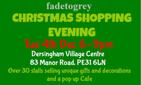 Christmas Shopping Evening poster