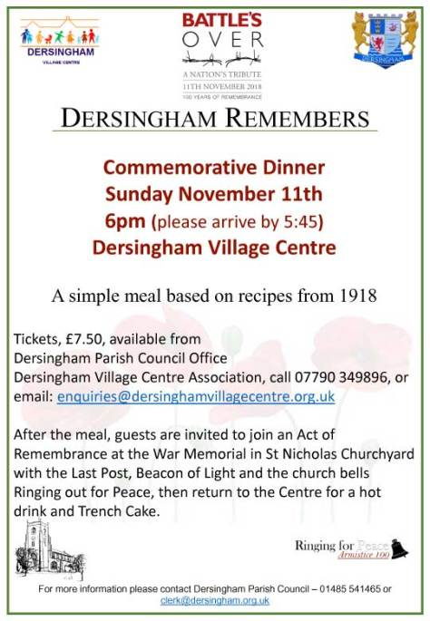 WW1 Dinner poster