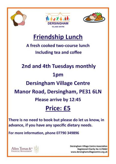 Tuesday Friendship Lunch poster