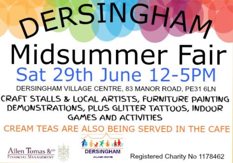 Midsummer Fair poster June 2019