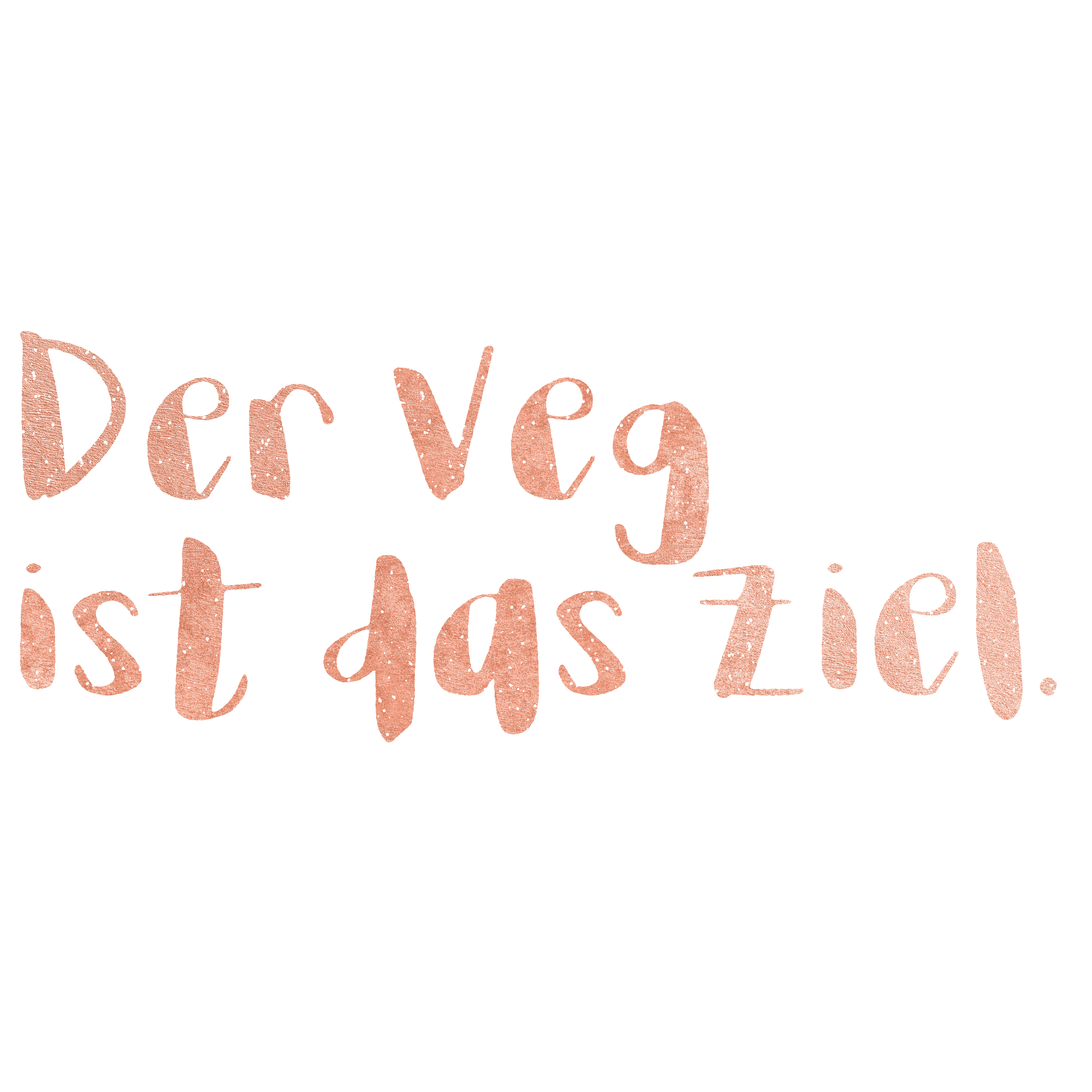 Der Veg ist das Ziel. logo