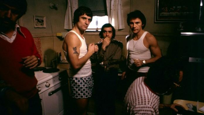 Robert De Niro, Martin Scorsese e Harvey Keitel sul set di Mean Streets.